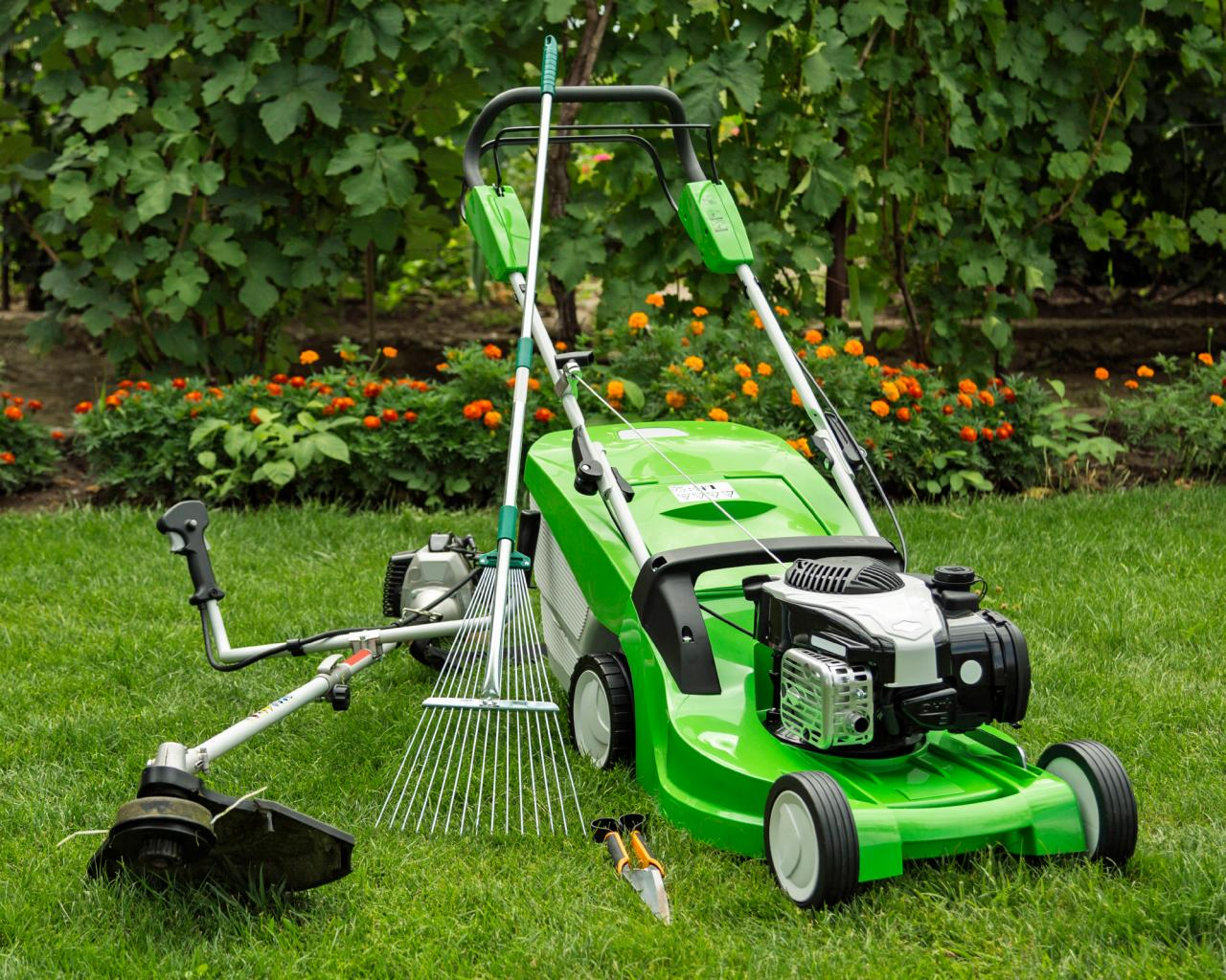 equipment for lawn maintenance